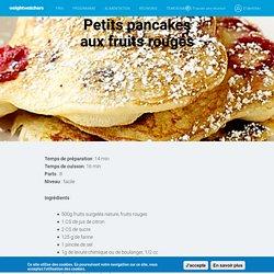 Petits pancakes aux fruits rouges