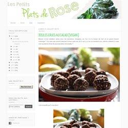 Boules crues au cacao {sarrasin, sésame, dattes, flocons d'avoine}