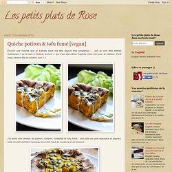 Quiche potiron & tofu fumé [vegan]