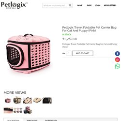 Buy Petlogix Travel Foldable Pet Carrier Bag Online