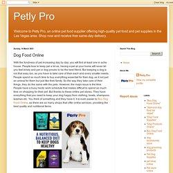Dog Food Online