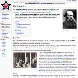 Pëtr Kropotkin - Anarcopedia