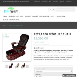 Petra 900 Pedicure Chair By J&A Spas