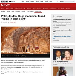 Petra, Jordan: Huge monument found 'hiding in plain sight'
