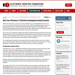 Don't be a Petraeus: A Tutorial on Anonymous Email Accounts