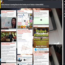 Maria Petrescu's Learning Diary for the Creative use of Tablets in Schools MOOC