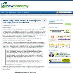 'Drill, baby, drill' fails: US petrol prices still high, despite oil boom