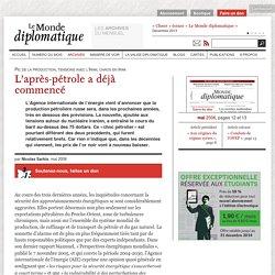 L'après-pétrole a déjà commencé, par Nicolas Sarkis (Le Monde diplomatique, mai 2006)