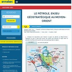 Le pétrole, enjeu géostratégique auMoyen-Orient