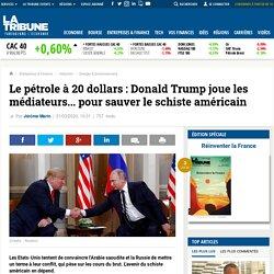 Le pétrole à 20 dollars: Donald Trump joue les médiateurs... pour sauver le schiste américain