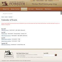 North Dakota Petroleum Council - Calendar