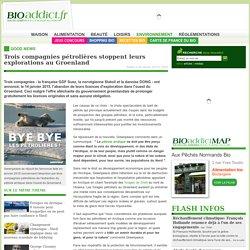 Trois compagnies pétrolières stoppent leurs explorations au Groenland