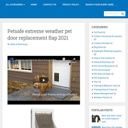Petsafe Extreme Weather Pet Door Replacement Flap 2021