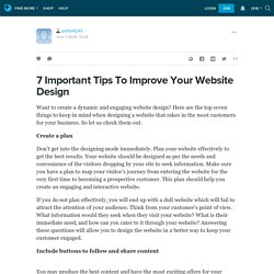 7 Important Tips To Improve Your Website Design