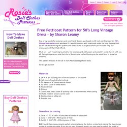 Free Petticoat Pattern for 50's Long Vintage Dress – by Sharon Leamy