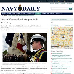Petty Officer makes history at Paris ceremony