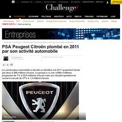 PSA Peugeot Citroën plombé en 2011 par son activité automobile