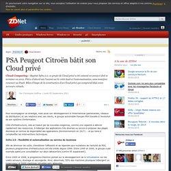 PSA Peugeot Citroën bâtit son Cloud privé