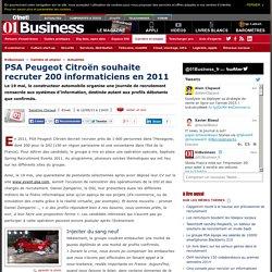 PSA Peugeot Citroën recrute 200 informaticiens