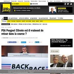 PSA Peugeot Citroën est-il vraiment de retour dans la course ?