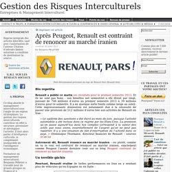 Après Peugeot, Renault est contraint de renoncer au marché iranien
