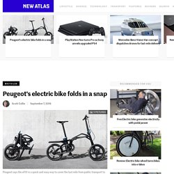 Peugeot's electric bike folds in a snap