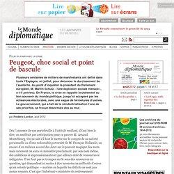 Peugeot, choc social et point de bascule, par Frédéric Lordon