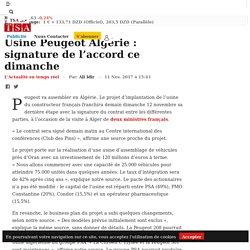Usine Peugeot Algérie : signature de l'accord ce dimanche