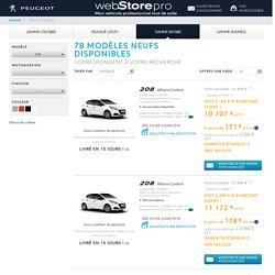 Peugeotwebstore pro - Sélection par critères