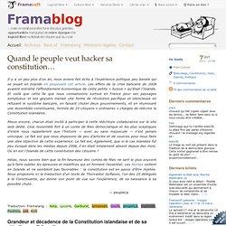 Quand le peuple veut hacker sa constitution…