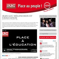 Jean-Luc Mélenchon et l'éducation