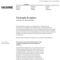 un peuple de papiers