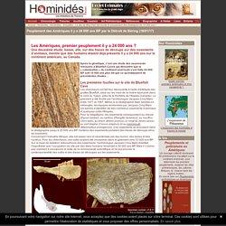 Peuplement du continent américain 24000 ans BP