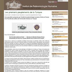 Les premiers peuplements de la Turquie - Institut de Paléontologie Humaine