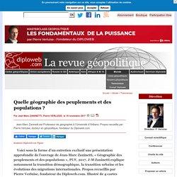 Jean-Marc Zaninetti: quelle géographie des peuplements et des populations ? 4 cartes en bonus