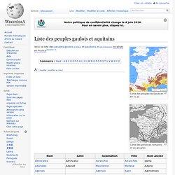 Liste des peuples gaulois et aquitains