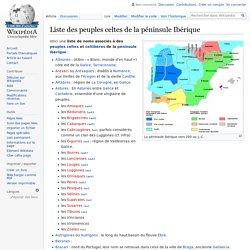 Liste des peuples celtes de la péninsule Ibérique