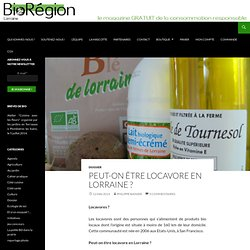 BIO REGION 12/05/14 Peut-on être locavore en Lorraine ?