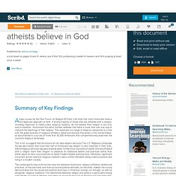 Pew survey: 21% of atheists believe in God