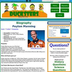 Peyton Manning: NFL Quarterback