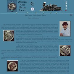 "Mike Pezak: ""Hobo Nickel"" Carver −by David E. Schenkman"
