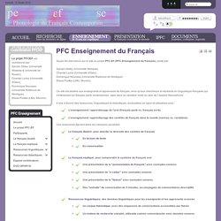 PFC Enseignement du Français