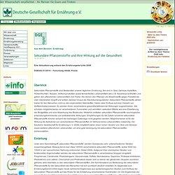 Sekundäre Pflanzenstoffe und ihre Wirkung auf die Gesundheit