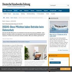 DSGVO: Was sich für Betriebe beim Datenschutz ändert - dhz.net