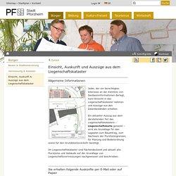 Stadt Pforzheim: Einsicht, Auskunft & Auszüge aus dem Liegenschaftskataster