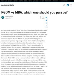 PGDM vs MBA: which one should you pursue?