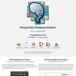 pgModeler - PostgreSQL Database Modeler