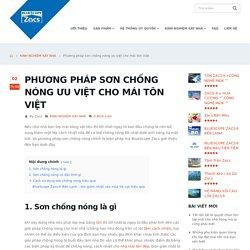 Phương pháp sơn chống nóng ưu việt cho mái tôn Việt