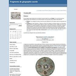 Phalères : Fragments de géographie sacrée