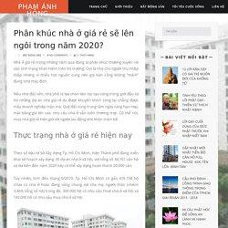 Phân khúc nhà ở giá rẻ sẽ lên ngôi trong năm 2020?